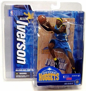 McFarlane Toys NBA Sports Picks Series 12 Action Figure Allen Iverson (Denver Nuggets) Blue Jersey