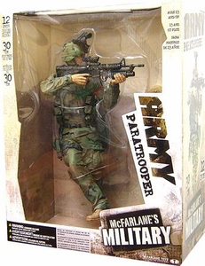 McFarlane Toys Military Soldiers 12 Inch Deluxe Action Figure Army Paratrooper (*Random Ethnicity)