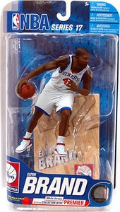 McFarlane Toys NBA Sports Picks Series 17 [2009 Wave 2] Action Figure Elton Brand (Philadelphia 76ers) White Jersey Premier Collector Level Chase Only 250 Made!