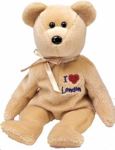 Ty Beanie Baby I Love London the Bear