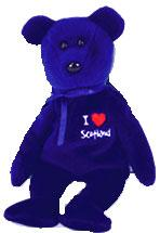 Ty Beanie Baby I Love Scotland the Bear
