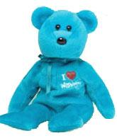 Ty Beanie Baby I Love Washington the Bear