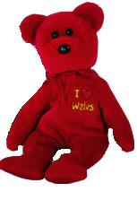 Ty Beanie Baby I Love Wales the Bear