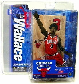 McFarlane Toys NBA Sports Picks Series 12 Action Figure Ben Wallace (Chicago Bulls) Red Jersey