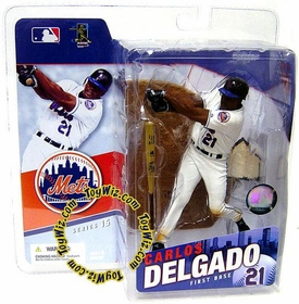 McFarlane Toys MLB Sports Picks Series 15 Action Figure Carlos Delgado (New York Mets) White Jersey
