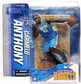 McFarlane Toys NBA Sports Picks Series 11 Action Figure Carmelo Anthony (Denver Nuggets) Light Blue Jersey
