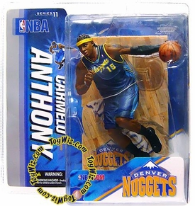 McFarlane Toys NBA Sports Picks Series 11 Action Figure Carmelo Anthony (Denver Nuggets) Dark Blue Jersey Variant