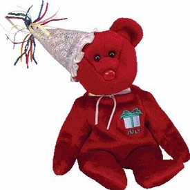 Ty Beanie Baby July the New Version Bear