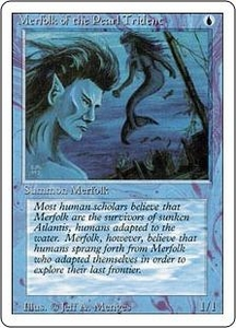 Magic the Gathering Revised Edition Single Card Common Merfolk of the Pearl Trident