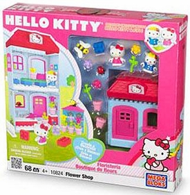 Hello Kitty Mega Bloks Set #10824 Flower Shop [Boutique] BLOWOUT SALE!