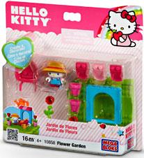 Hello Kitty Mega Bloks Set #10858 Flower Garden