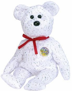 Ty Beanie Baby White Decade the Bear
