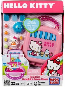 Hello Kitty Mega Bloks Set #10874 Ice Cream Parlor