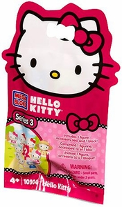Hello Kitty Mega Bloks #10904 Series 3 Minifigure Mystery Pack [1 RANDOM Mini Figure]