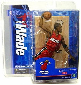 McFarlane Toys NBA Sports Picks Series 12 Action Figure Dwyane Wade (Miami Heat) Red Jersey Variant
