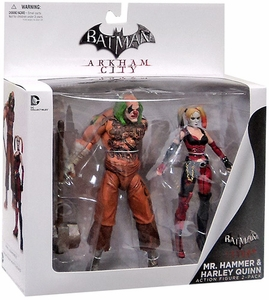 DC Collectibles Arkham City Action Figure 2-Pack Mr. Hammer & Harley Quinn