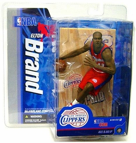 McFarlane Toys NBA Sports Picks Series 12 Action Figure Elton Brand (Los Angeles Clippers) Red Jersey