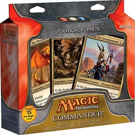 Magic the Gathering Commander EDH Deck Political Puppets [Red, White & Blue]