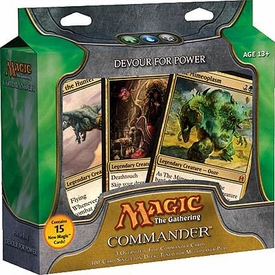 Magic the Gathering Commander EDH Deck Devour for Power [Green, Blue & Black]