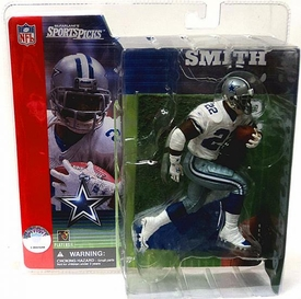 McFarlane Toys NFL Sports Picks Series 1 Action Figure Emmitt Smith (Dallas Cowboys) White Jersey Without Grass Stains