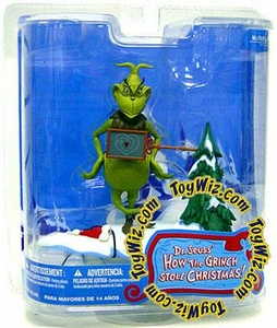 McFarlane Toys Dr. Seuss How the Grinch Stole Christmas Action Figure Two Sizes Too Small