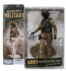 McFarlane Toys Military Soldiers Series 3 Action Figure Army Helicopter Crew Chief [African American] Extremely Rare!