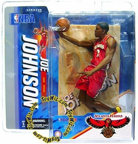 McFarlane Toys NBA Sports Picks Series 11 Action Figure Joe Johnson (Atlanta Hawks) Red Jersey