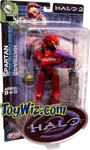 Halo 2 Action Figure Series 4 Red Spartan (Random Color Stripes)