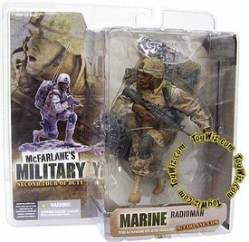 McFarlane Toys Military Soldiers Series 2 (2nd Tour of Duty) Action Figure Marine Radioman (*Random Ethnicity)