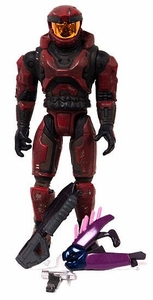Halo Exclusive LOOSE Action Figure Battle Damaged Red Spartan