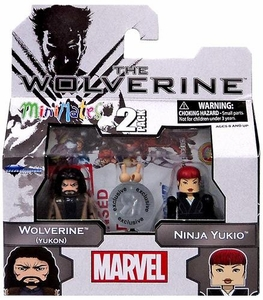 Marvel Minimates The Wolverine Exclusive Mini Figure 2-Pack Wolverine (Yukon) & Ninja Yukio