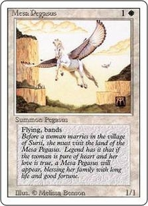 Magic the Gathering Revised Edition Single Card Common Mesa Pegasus