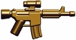 "BrickArms 2.5"" Scale BRASS Single Weapons, Helmets & Accessories"
