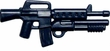 "BrickArms 2.5"" Scale DARK BLUE  Single Weapons, Helmets & Accessories"