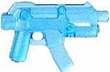 "BrickArms 2.5"" Scale TRANS BLUE Single Weapons, Helmets & Accessories"
