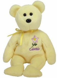 Ty Beanie Baby Colorado Columbine Flower Bear