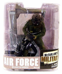 McFarlane Toys Military Soldiers Series 6 Action Figure Air Force Helicopter Gunner (*Random Ethnicity) Impossible to Find!