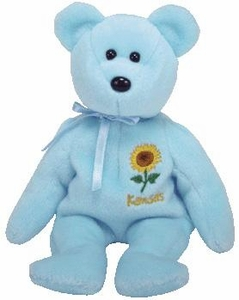 Ty Beanie Baby Kansas Sunflower Flower Bear