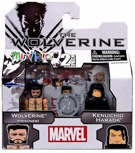 Marvel Minimates The Wolverine Exclusive Mini Figure 2-Pack Wolverine (Prisoner) & Kenuichio Harada