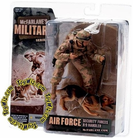McFarlane Toys Military Soldiers Series 3 Action Figure Air Force K-9 Unit (*Random Ethnicity)