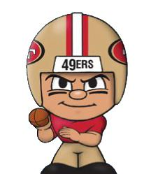 TeenyMates NFL Quarterbacks Series 1 San Francisco 49ers