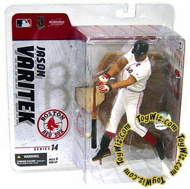 McFarlane Toys MLB Sports Picks Series 14 Exclusive Action Figure Jason Varitek (Boston Red Sox) White Jersey