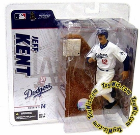 McFarlane Toys MLB Sports Picks Series 14 Exclusive Action Figure Jeff Kent (Los Angeles Dodgers) White Jersey