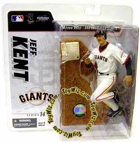 McFarlane Toys MLB Sports Picks Series 14 Exclusive Action Figure Jeff Kent (San Francisco Giants) White Retro Jersey Variant