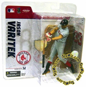 McFarlane Toys MLB Sports Picks Series 14 Exclusive Action Figure Jason Varitek (Boston Red Sox) Gray Jersey Variant