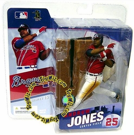 McFarlane Toys MLB Sports Picks Series 15 Action Figure Andruw Jones (Atlanta Braves) Red Jersey