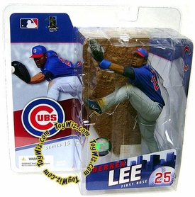 McFarlane Toys MLB Sports Picks Series 15 Action Figure Derrek Lee (Chicago Cubs) Blue Jersey