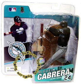 McFarlane Toys MLB Sports Picks Series 15 Action Figure Miguel Cabrera (Florida Marlins) Black Jersey