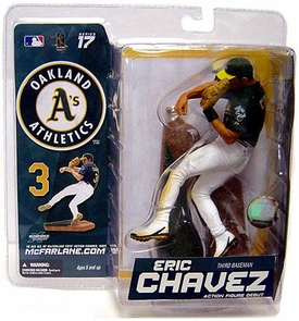 McFarlane Toys MLB Sports Picks Series 17 Exclusive Action Figure Eric Chavez (Oakland Athletics) Green Jersey