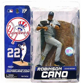 McFarlane Toys MLB Sports Picks Series 17 Action Figure Robinson Cano (New York Yankees) Gray Uniform Variant
